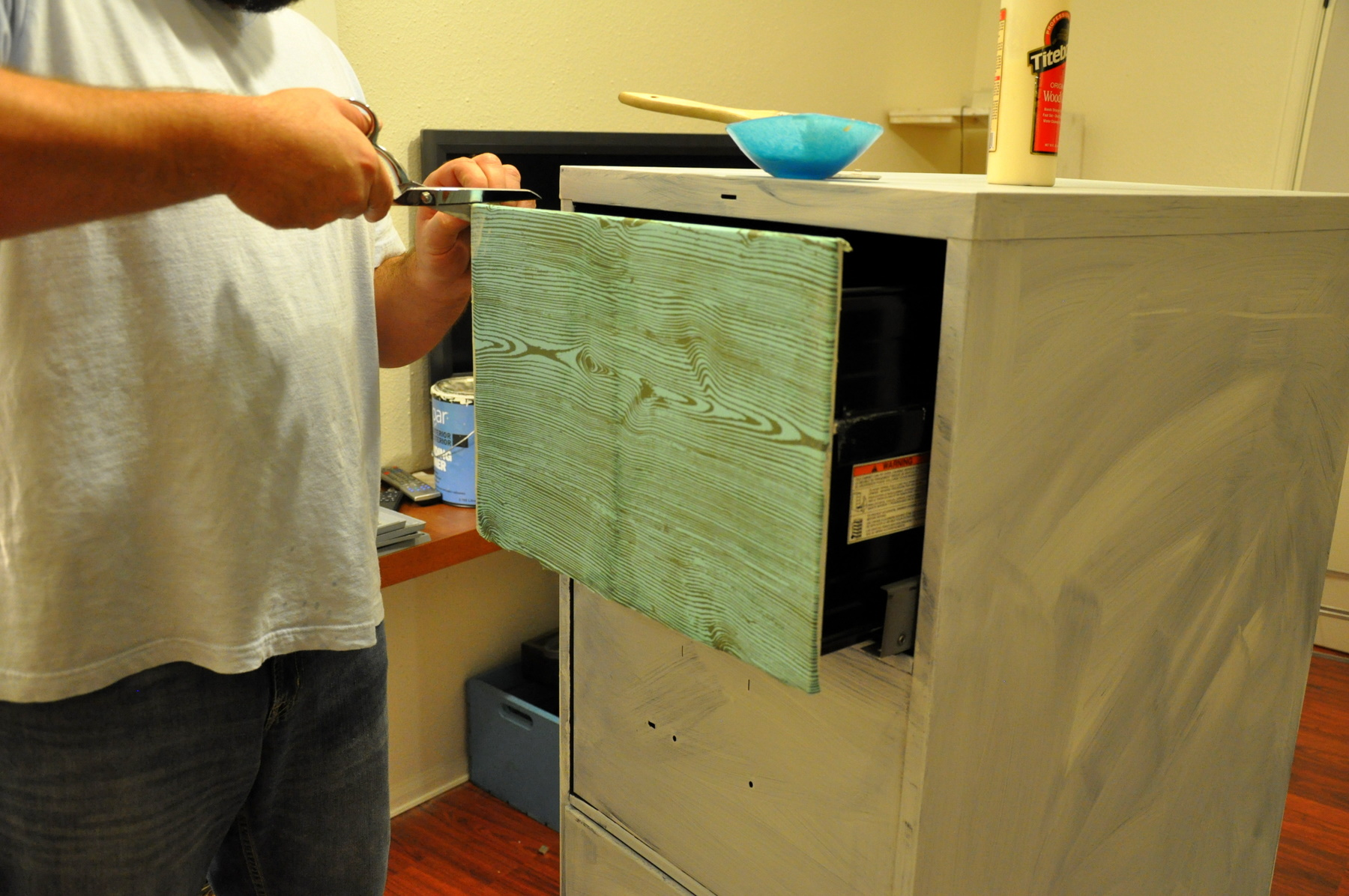 DIY Project of the Week-File Cabinet Redo | Fleuriste Craft Supply