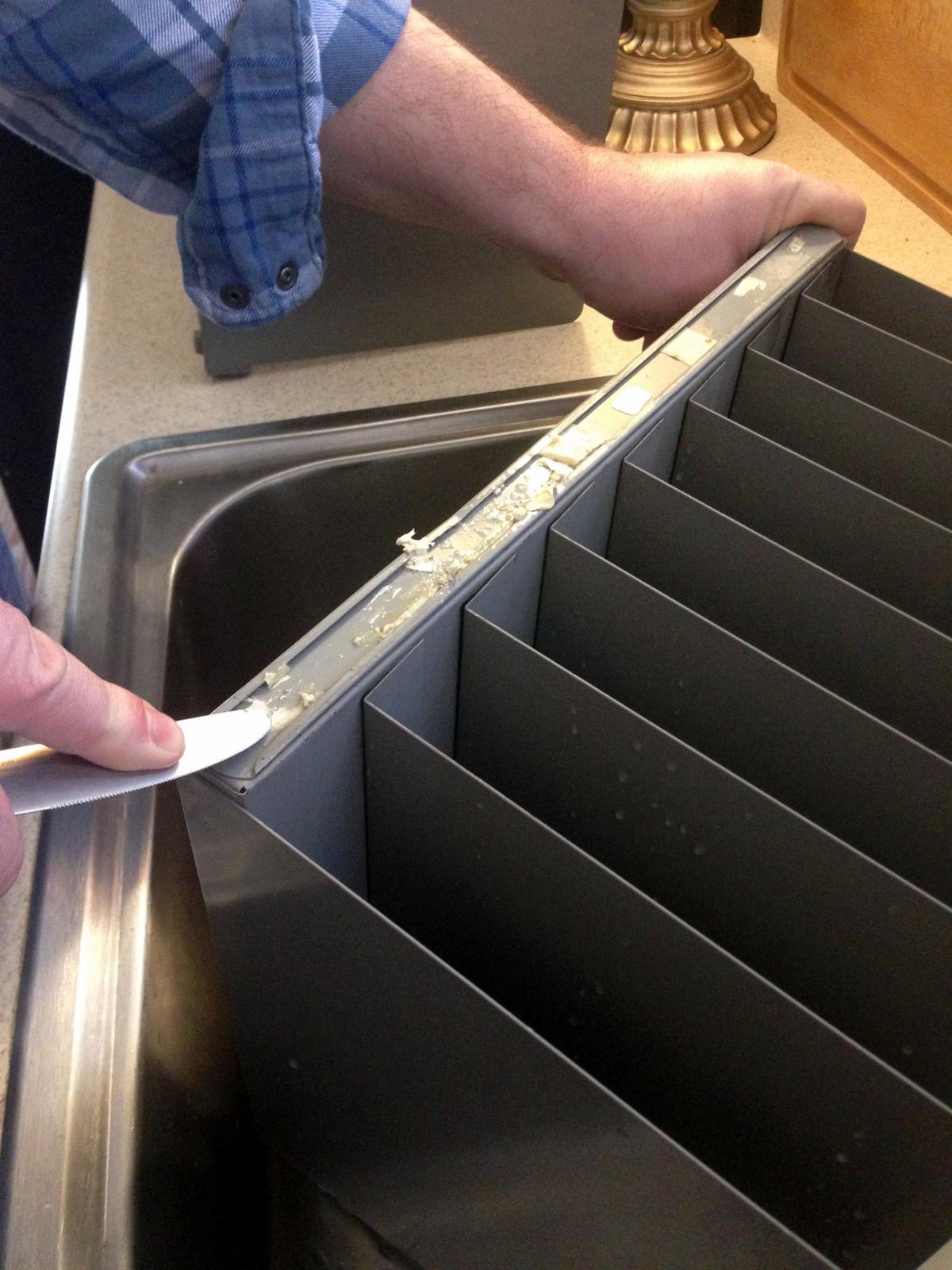 Vintage Paper Filer Re-Vamp Project - Way of the Glue Gun